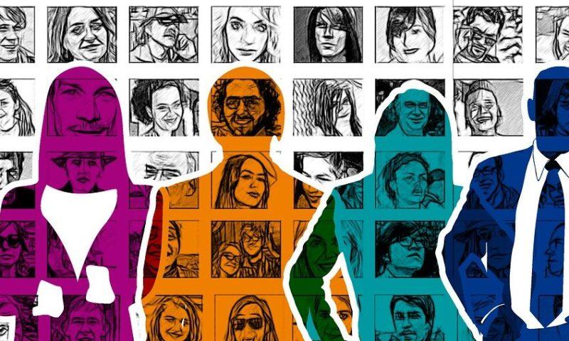 Kuvituskuva, jossa sarjakuvamaisia ihmishahmoja.