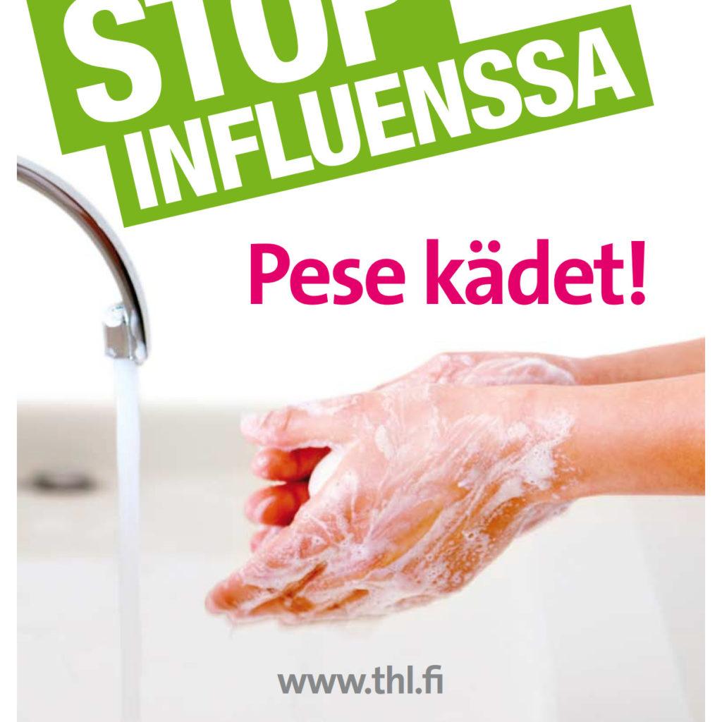 Stop influenssa - pEse kädet!