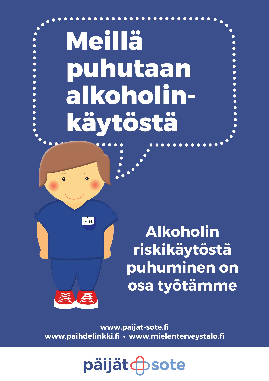 Meillä puhutaan alkoholinkäytöstä -juliste